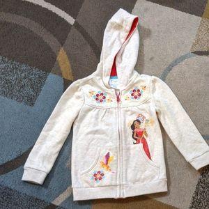 Toddler girls zip up hoodie